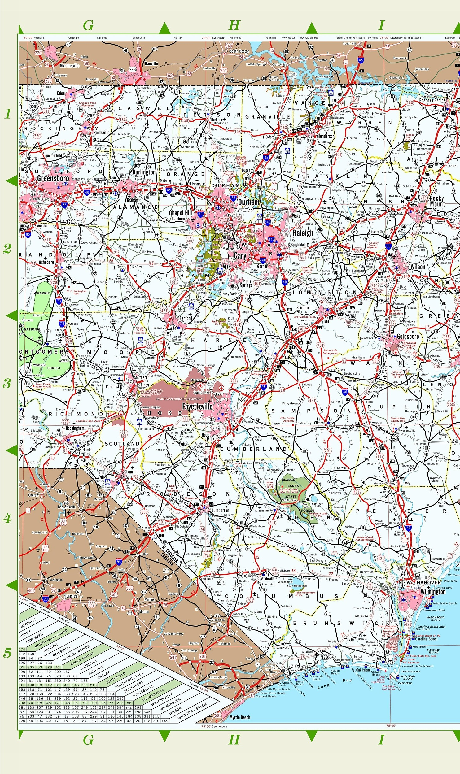 North Carolina AA Maps