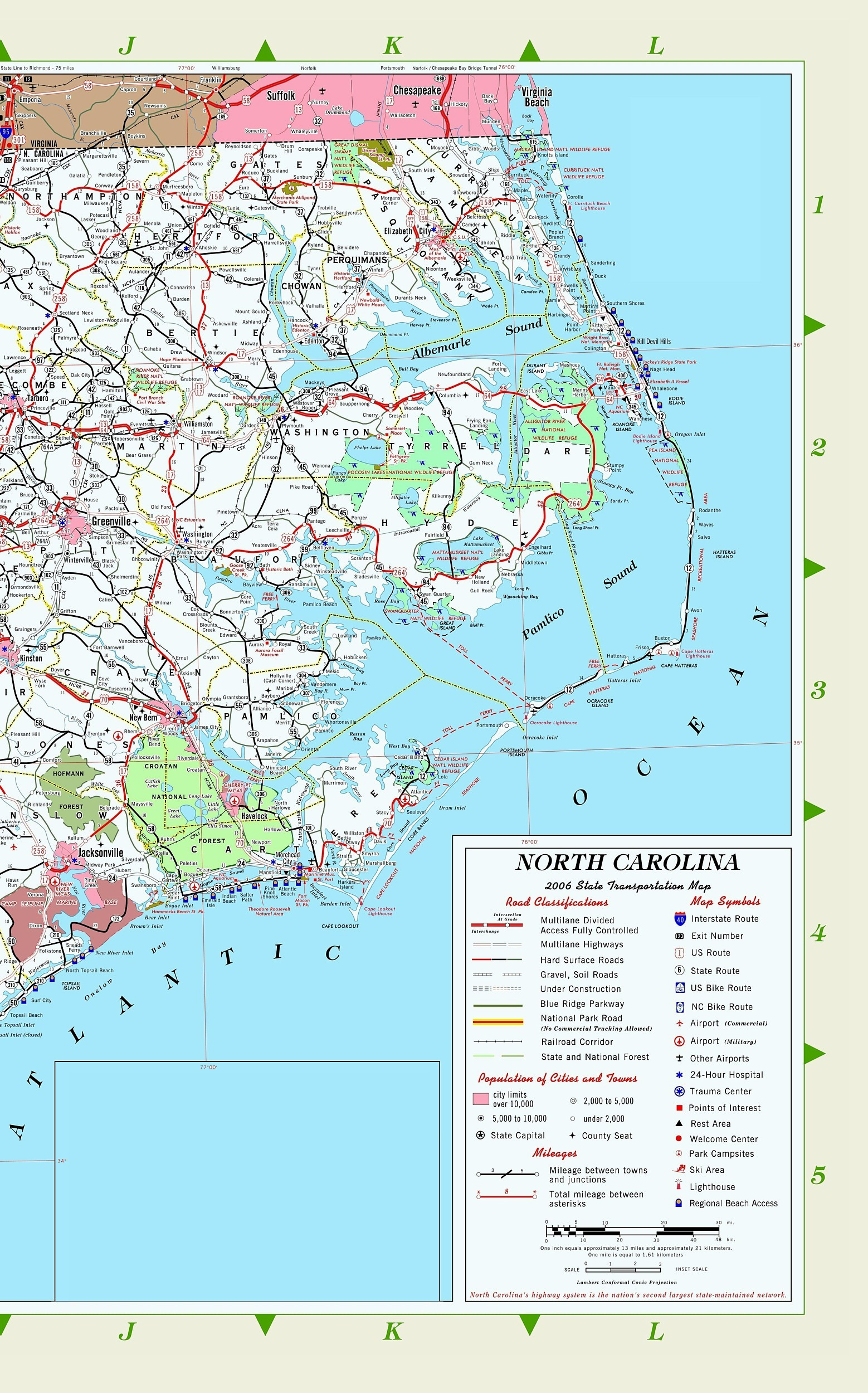 North Carolina AA Maps - Map of n carolina
